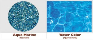 Aqua Marine Beadcrete Glass Bead Pool Finish