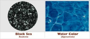 Black Sea Beadcrete Glass Bead Pool Finish