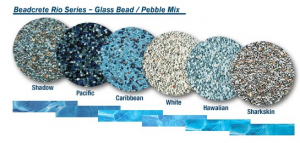 Beadcrete Glass Bead Pool Finishes - Samples