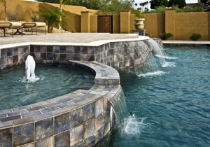 Spa, Waterfalls, Jacuzzi, Pool Tiles
