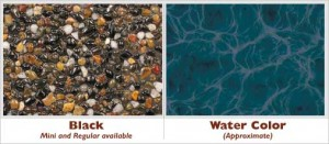 Black Exposed Pebble Swimming Pool Surface