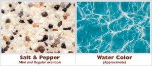 Salt and Pepper Exposed Pebble Swimming Pool Surface